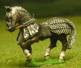 H35 Horses: Medieval, Fully Armoured: Gothic, walking