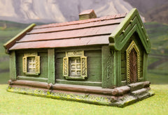 ZX9 Pre-Painted Eastern European Long House / Meeting House (25mm scale)