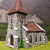 ZX8 Pre-Painted Stone Built Church with Ornate Windows (25mm scale)