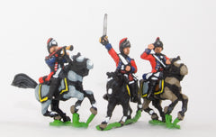 INB16 AWI British: Command: Light Dragoon, Officer, Standard Bearer & Trumpeter