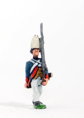 ING6 AWI German: Grenadier advancing, with shouldered Musket