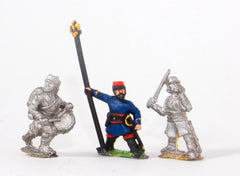 KO17a French: Command: Late Officers, Standard Bearers & Drummers
