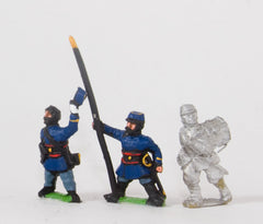 KO34c French: Chasseurs a Pied: Command: Officers, Standard Bearers and Drummers