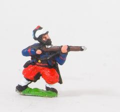 KO42 French: Zouaves: Leaning firing in Fez with Turban wraparound
