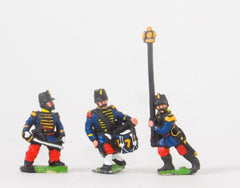 KO63 French: Guard Voltigeurs: Command: Officers, Standard bearers and Drummers in Shako