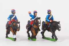KO87 French: Cavalry: Command: Lancer Officer, Standard bearer & Trumpeter