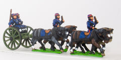 KOE1 French foot artillery limber with four horses, two drivers, two gunners