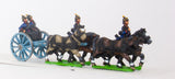 KOE5 Prussian foot artillery limber with four horses, two drivers, two gunners