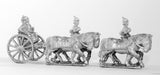 KOE6 Prussian horse artillery limber with four horses, two drivers, two gunners