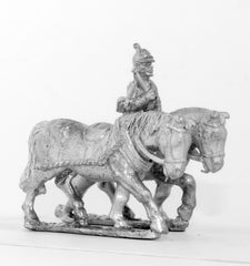 KOE7 Prussian Two limber horses and driver