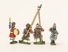KRA12 Late 16th C. Korean: Command: Officers, Standard Bearers and Drummers