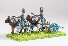NE47 Bavarian: Line Artillery Limber with four horses and two drivers