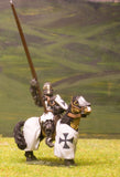M1b Later Medieval: Mounted Knight c.1310 in Barrel helm with arm raised
