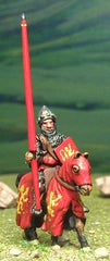 M1f Later Medieval: Mounted Knight c.1325 in Open Faced Fluted Helm