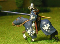 M22 Mounted Knight c.1380 in Studded Jack, Plate Armour & visored Bascinet