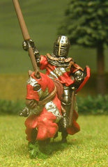 M24a Mounted Knight c.1370 in short Surcoat, Plate Armour & Great Helm