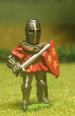 M25a Dismounted Knight c.1370 in short Surcoat, Plate Armour & Great Helm