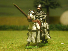 M26 Mounted Knight c.1385 in Plate Armour, Tight Jurpon & Open Face Bascinet