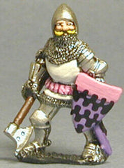 M27 Dismounted Knight c.1385 in Plate Armour, Tight Jurpon & Open Face Bascinet