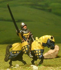 M2a Later Medieval: Mounted Knight c.1330 in Round Open Face Helm