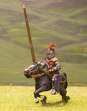 M2c Later Medieval: Mounted Knight c,1335 in Sugar Loaf Helmet with Dragon Crest