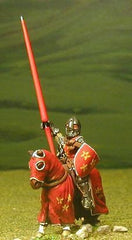 M3c Later Medieval: Mounted Knight c.1350 in Conical Helm with nasal