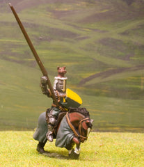 M3d Later Medieval: Mounted Knight c.1355 in Great Helm with Boar Crest