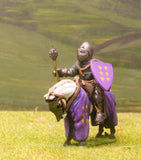 M3e Later Medieval: Mounted Knight c.1360 in Conical Helm with closed visor