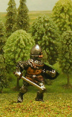 M5e Later Medieval: Dismounted Knight c.1340 in Conical Open Face Helm