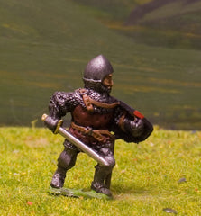 M5f Later Medieval: Dismounted Knight c.1345 in Conical Open Face Helm
