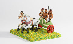 MEPA39 Classical Indian: Two horse Chariot with driver, archer & javelinman