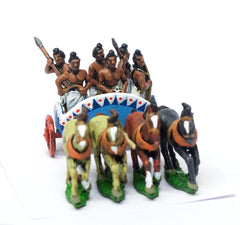 MEPA40 Classical Indian: Four horse Chariot with two drivers, two archers & two javelinmen