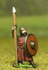 MER32 Late Medieval: Isleman / Galloglaich in Long Tunic with Round Shield & Spear