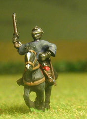 "MER62 Renaissance 1520-1580AD: ""Miller"" Man At Arms in Closed Helms & Cassock with two Pistols on Unarmoured Horse"