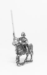 MER11a Late Medieval: Knights, 1420-1480AD in Full Plate & Sallet with Lance, on Unarmoured Horse