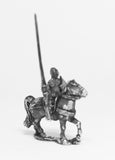 MER1a Late Medieval: Knights, 1360-1390AD in Bascinets & Jupon with Lance & Shield, on Unarmoured Horse