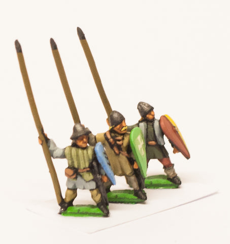 MID32 Medium Infantry in assorted helms with Long Spear & Kite