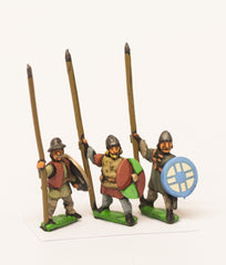 MID33 Medium Infantry in assorted helms with Long Spear & Round Shield
