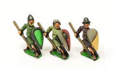 MID39 Light / Medium Spearmen with Kite Shield & assorted helms