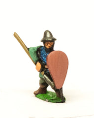 MID46 Heavy Spearmen with Kite Shield, in Scale Corselet & Kettle Helm