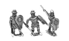 MID50 Light / Medium Spearmen, various dress, kite shields