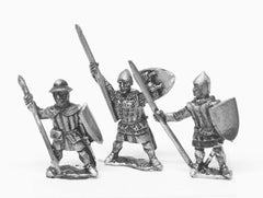 MID51 Light / Medium Spearmen, various dress, large shields