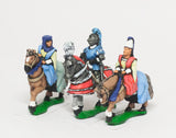 MER53c Early Renaissance: Command: King / General & two Mounted Ladies 1450-1500AD