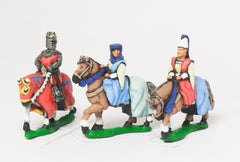 MID67c Command: King / General & two Mounted Ladies 1150-1300AD