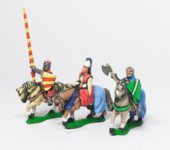 MID67d Command: Mounted Lady with two Bodyguards 1150-1300AD