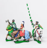 MID68e Command: Mounted Lady with two Bodyguards 1300-1360AD
