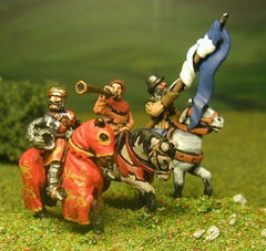 MID68 Command pack: Mounted King, Standard Bearer and Herald 1300-1360
