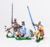 MID68f Command: Mounted Lady with two Bodyguards 1360-1400AD