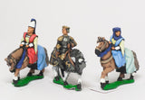 MID69d Command: King / General & two Mounted Ladies 1360-1420AD