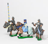 MID69e Command: Mounted Lady with two Bodyguards 1380-1450AD